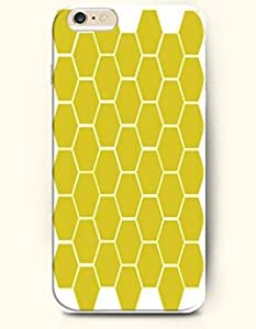 Diy For SamSung Galaxy S5 Case Cover Case with of Yellow Hexagon - Honeycomb Pattern -OOFIT Authentic Skin