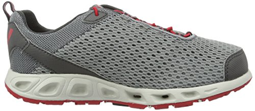 Columbia Jungen Youth Drainmaker III Outdoor Fitnessschuhe Grau (Grey Ash, Mountain Red 021)