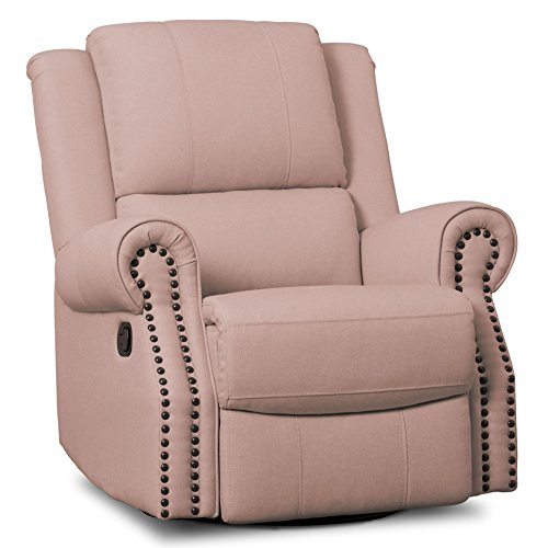 Review Delta Children Dylan Nursery Recliner Glider Swivel Chair, Blush