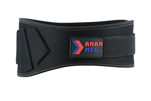 ANAN MFG Weightlifting - Weight - Powerlifting - Fitness Gym Belts 6 inch Small
