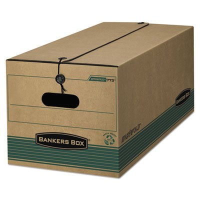 Stor/File Extra Strength Storage Box, Letter, String/Button, Kraft/Green, 12/Ctn, Total 12 EA, Sold as 1 Carton