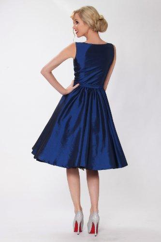 1950 RBJ1401 del ropa Vintage 24T Tarde vestido Rockabilly Hepburn SEXYHER Estilo clase Cl¨¢sico oscilaci¨®n Audrey Negro OwgzxPAq