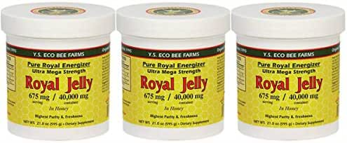 Y.S. Eco Bee Farms, Royal Jelly, in Honey, 3Pack (21 oz Each)