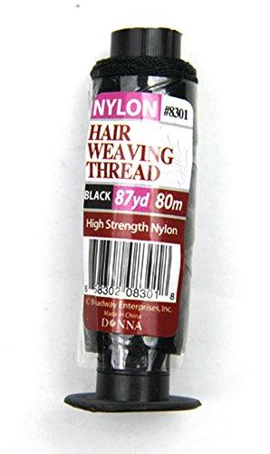 Crispy Premium Nylon Hair Weaving Thread Black 87 Yard (80M) High Strength Nylon (1)