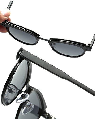 6a55a85e37a2 Joopin Semi Rimless Polarized Sunglasses Women Men Retro Brand Sun Glasses