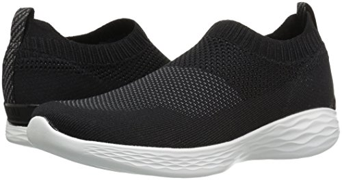 35 Mujer Black Pure sin White Zapatillas You Negro EU Cordones Skechers para CqavT