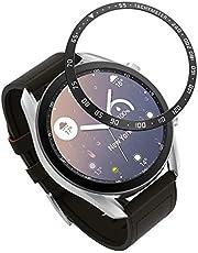MoKo Bezel ring kompatibel med Galaxy watch 3 41 mm, Smartwatch infattning ring självhäftande dämpning reptålig skyddande skal i rostfritt stål – silver och svart