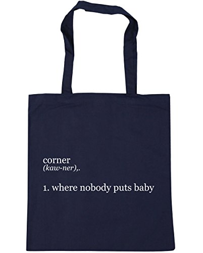 Baby 10 Beach Tote Shopping 1 Where litres 42cm Puts French Corner Nobody Bag HippoWarehouse Gym x38cm Navy qOXpz