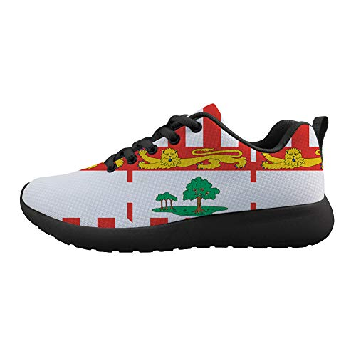 - Owaheson Cushioning Sneaker Trail Running Shoe Mens Womens Federal Birthplace Prince Edward Island Flag -42