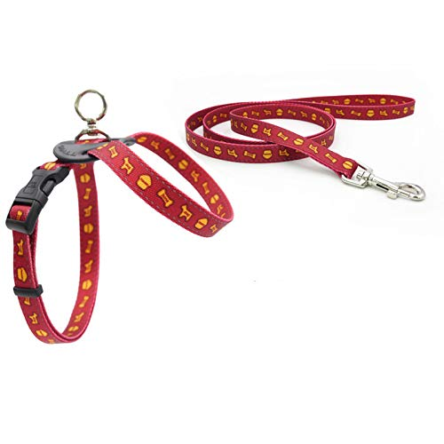 Red 4570120cm red 4570120cm YSDTLX Dog Chest Strap With 8 Word Traction Rope Pet Supplies Soft Dog Chain, Red, 4570  120Cm