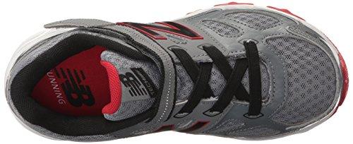 New Balance KA680 Youth Running Shoe (Little Kid/Big Kid) Grey/Black/Red