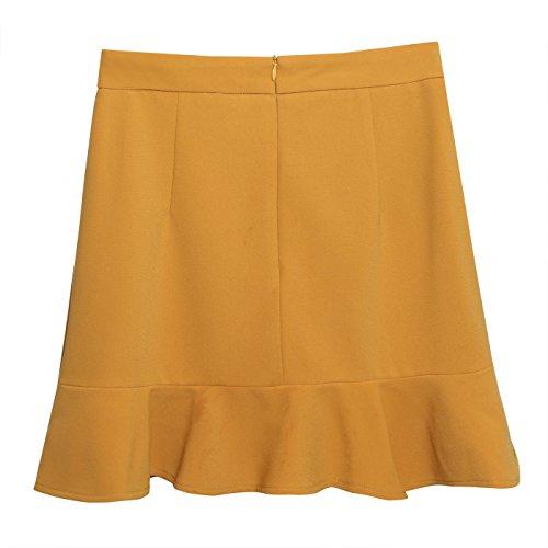 a7e6fe45b Feoya Para Delgado Con Paquete Amarillo Elegante Fiesta L Mujer 3xl ...