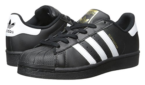 Adidas Originals Superstar Foundation J Casual Basketball-Inspired Low-Cut Sneaker (Big Kid), Black/White/Black, 7 M US Big Kid