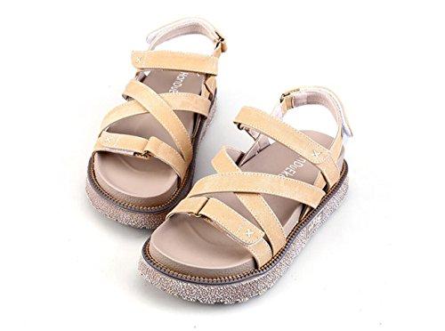 Estudiante Velcro Azul británico Sandalias Romanas Sandalias Albaricoque de Albaricoque Mujer Color Zapatos caseros para Mezclilla DANDANJIE Estilo de de Sandalias Espesor Zapato Caqui de TAvqzwwXx