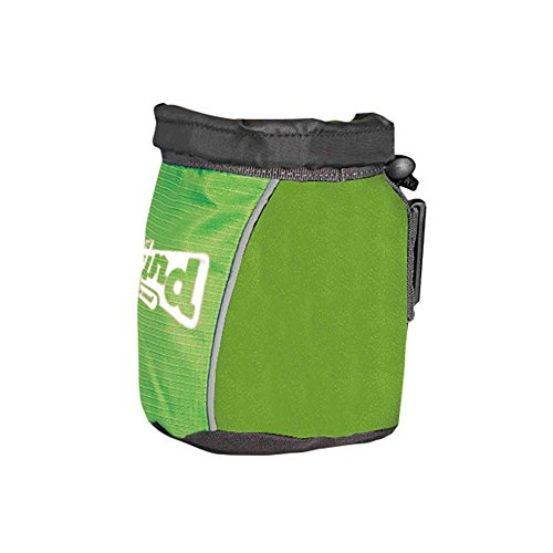 Treat Tote Hands Free Dog Treat Pouch and Training Bag with Belt Clip, Training Bag for Dogs by Outward Hound, Green