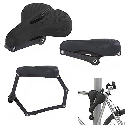 Seatylock Comfort Classic Heavy Duty Drill Resistant Anti-Theft Bicycle Hybrid Saddle Lock Chameleon Black