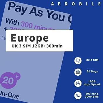 Amazon.com: dataroam Prepaid 4G Europe Data SIM Card ...