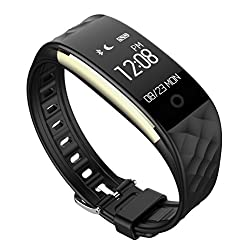 Pard Kids Fitness Tracker, Ultra Lightweight Heart Rate Fitness Tracker with Cycling Mode / Sleep Monitor / Pedometer for Android and iOS Smartphones, Black