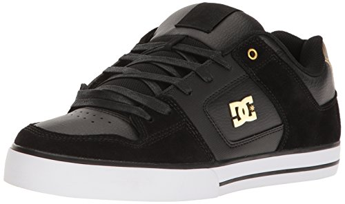 Dc Shoes D0301024 De Chaussures Se Pur, Baskets Herren, Weiss, Noir / Or