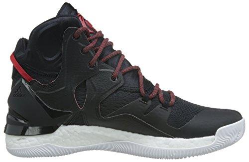 adidas D Rose 7, Scarpe da Basket Uomo Multicolore (Cblack/Scarle/Cblack)