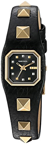 Diesel Women's 'Love Shackle' Quartz Stainless Steel and Leather Automatic Watch, Color:Black (Model: DZ5503)