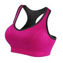 Startony Women's Sport Workout Bra Wire Free 3D Push Up Seamless High Impact Bra
