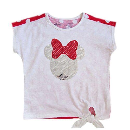 Minnie Mouse Disney Fashion Sequein Crop Top 3T - Red,White