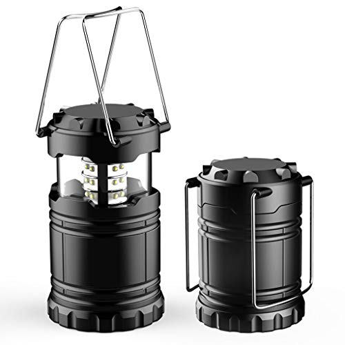 - BOSJI Outdoor Light,30 LED Camping Lantern Battery Powered Multifunction Portable Work Lamp Wall Night Light for Home Outdoor Hiking Emergency (Black)