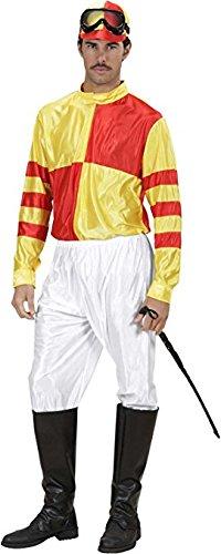 Jockey Red/yell & Grn/ppl Costume Medium For Horse Riding Sport Fancy Dress -