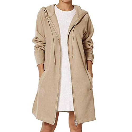 TnaIolr Women Warm Hoodie Coat Fashion Loose Fit