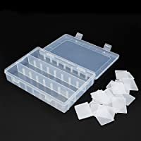 Sungpunet Large Size 24 Compartments Adjustable Plastic Electronics Parts Gadgets Tool Storage Box Case Craft Beads Jewelry Box Sewing Box Organizer Container Divider