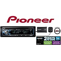 Pioneer DEH-X6700BS CD Receiver w/ Aux USB Bluetooth Remote and SiriusXM Tuner with Antenna a FREE SOTS Air Freshener included