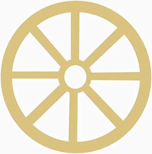 MarthaFox Wooden Wagon Wheel Cutout Unfinished Wooden Craft Shape DoItYourself Wood Wagon Wheel Shape Paintable Wood DIY Craft VBS -