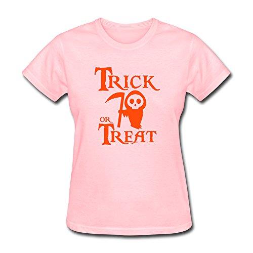 Halloween Trick Or Treat Women O Neck T Shirts By Hapman1