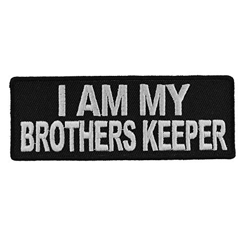 - I Am My Brothers Keeper Patch - 4x1.5 inches. Embroidered Iron on Patch