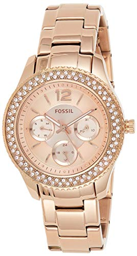 Fossil Women's Stella Quartz Stainless Steel Chronograph Watch, Color: Rose Gold  (Model: ES3590)