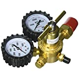 Uniweld RHP400 Nitrogen Regulator with 0-400 PSI Delivery Pressure, CGA580 Inlet Connection and 1/4-Inch Male Flare Outlet Connection