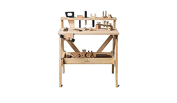 Pleasing Wooden Toy Tool Bench 38Pc Hearth Hand With Magnolia Creativecarmelina Interior Chair Design Creativecarmelinacom