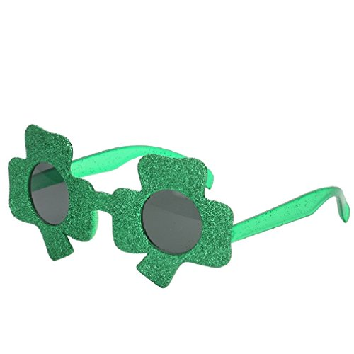 Green Clover Irish Charms Costume Glasses Ireland Fancy Dress St Patrick's Day]()