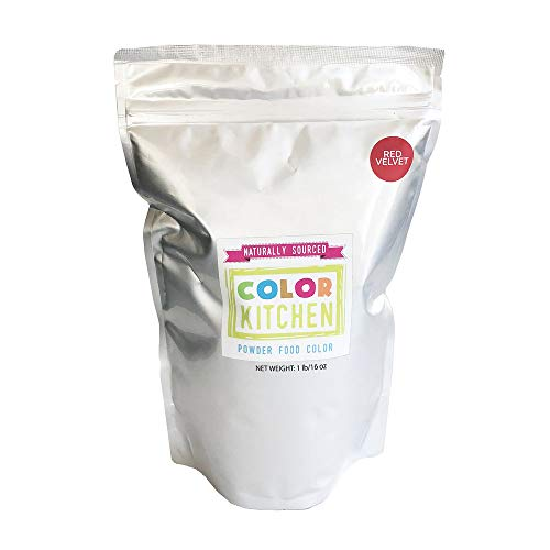 ColorKitchen Red Velvet Food Coloring Powder (1lb Bulk Bag) Naturally Sourced, Plant-Based, No Artificial Dyes