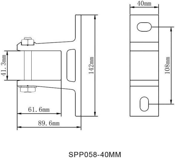 Home & Trends - Juego de 2 Soportes de Pared para toldo (40 mm ...