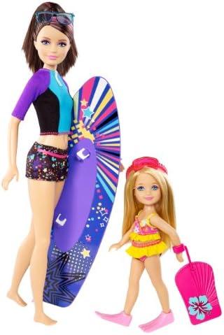 Barbie - Pack de 2 muñecas Hermanas, Skipper y Chelsea (Mattel CBR17): Amazon.es: Juguetes y juegos