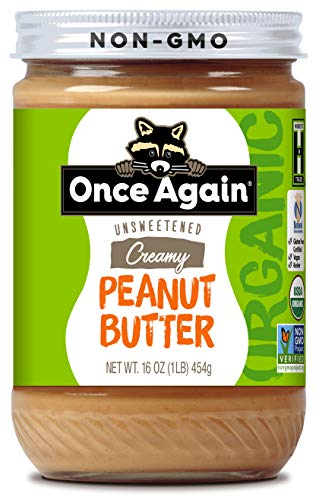 Once Again Organic Creamy Peanut Butter,  Lightly Salted, Unsweetened 16 oz