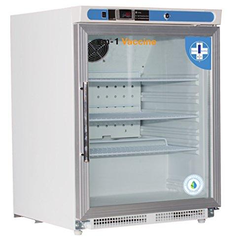 am-1 AM-VAC-UC-RGP-04-ADA Undercounter Vaccine Refrigerator, Vaccine Premium Glass Door 4.6 cu. ft. ADA Height,31.9