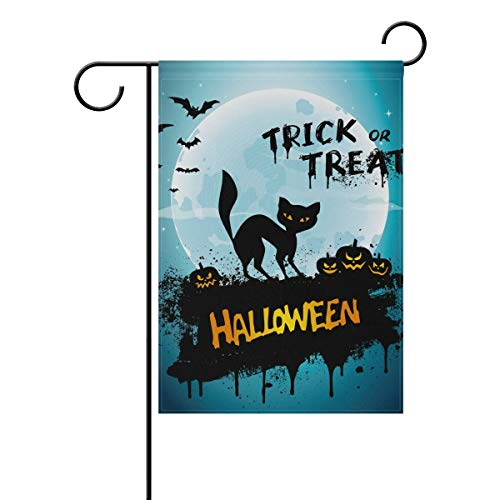 ZISHANG Thick Durable and Premium Fabric Halloween Night Seasonal Holiday Garden Yard House Flag Banner 28 x 40 inches Decorative Flag for Home Indoor Outdoor -