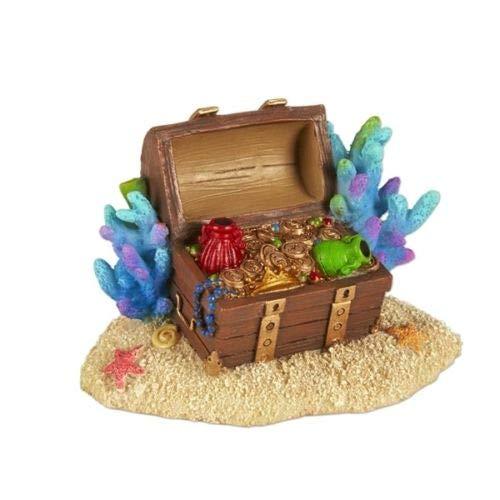 ShopForAllYou Figurines and Statues Mary Engelbreit Fairy Gardens - Mermaid Treasure Chest - Dollhouse Miniature -