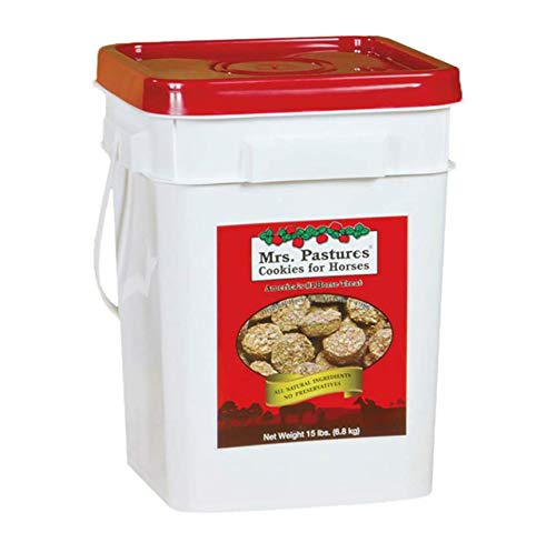 Mrs. Pastures Horse Cookies & Treats - Premium All Natural Treats (15 Pound Bucket) ()