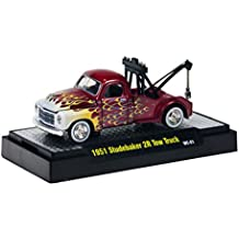 M2 Machines Wild Cards 1:64 1951 Studebaker 2R Tow Truck WC01 Red