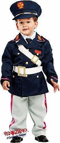 Italian Made 6 Piece Deluxe Baby Toddler Boys Police Policeman Job Occupation Fancy Dress Costume Outfit 0-36 months (2 years) -
