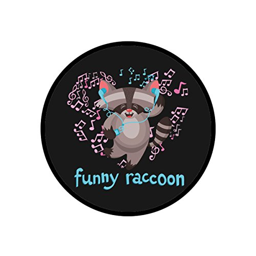 Smart Phone Pop Stand and Grip Socket With Smartphones and Tablets - Funny Racoon Dancing (Racoon Makeup)